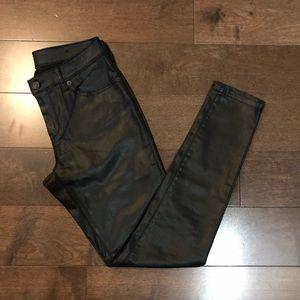 Wax-Coated Skinny Jeans